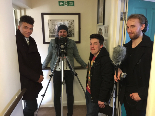 Reece, Mark, Ben on Erik Knudsen's feature film Cleft Lip
