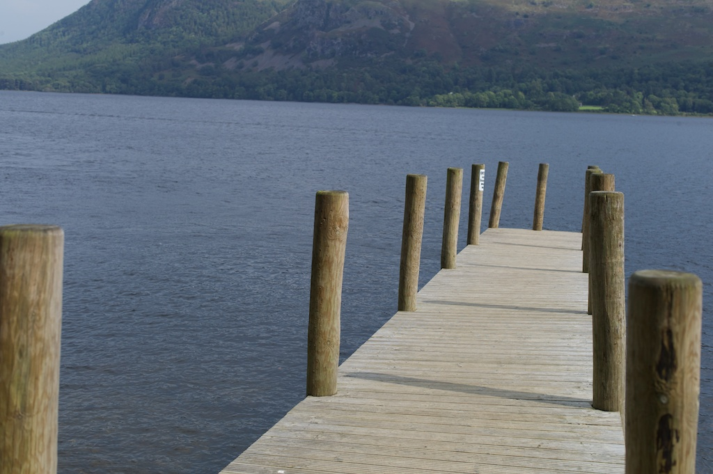 A jetty on Derwent Water in the Lake District.