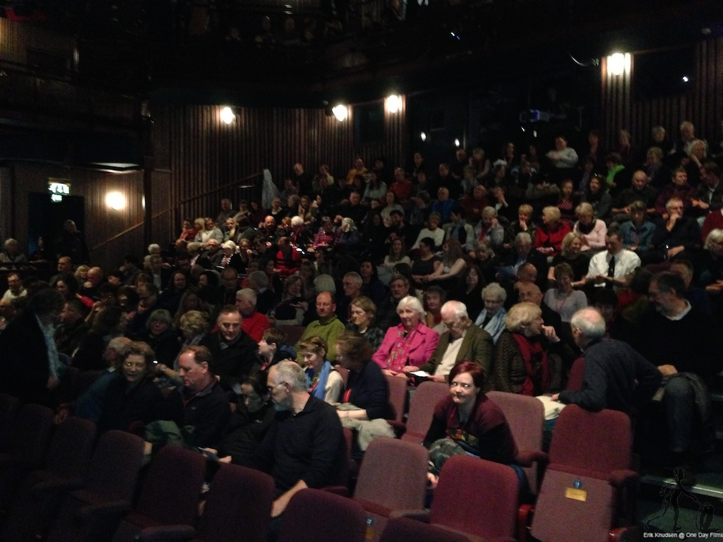 Audience attending screening of The Raven On The Jetty at Keswick Film Festival