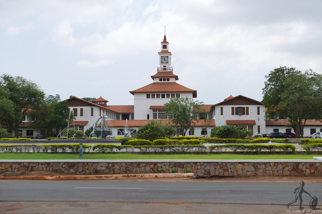 Main Library at University of Ghana, Legon, Accra