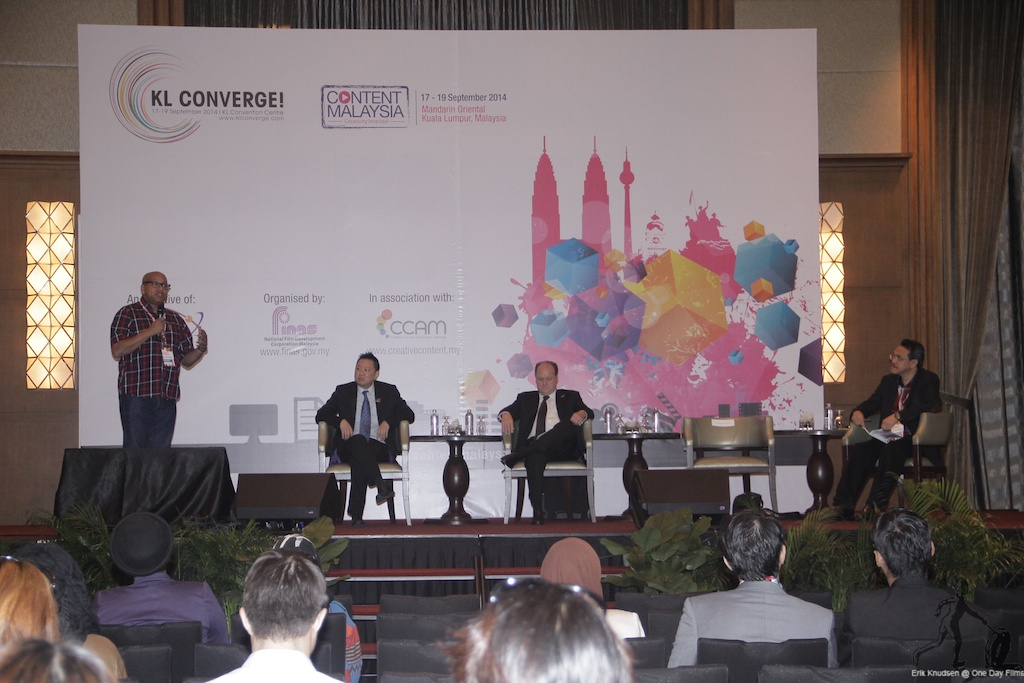 Erik Knudsen speaking at Content Malaysia 2014 conference
