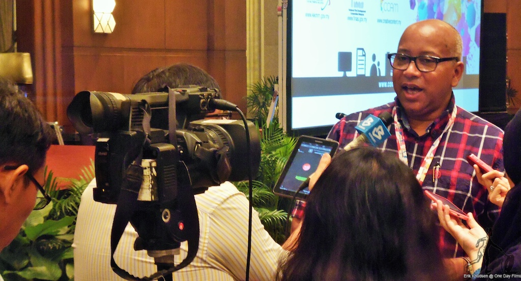 Erik Knudsen speaks to the media at Content Malaysia conference