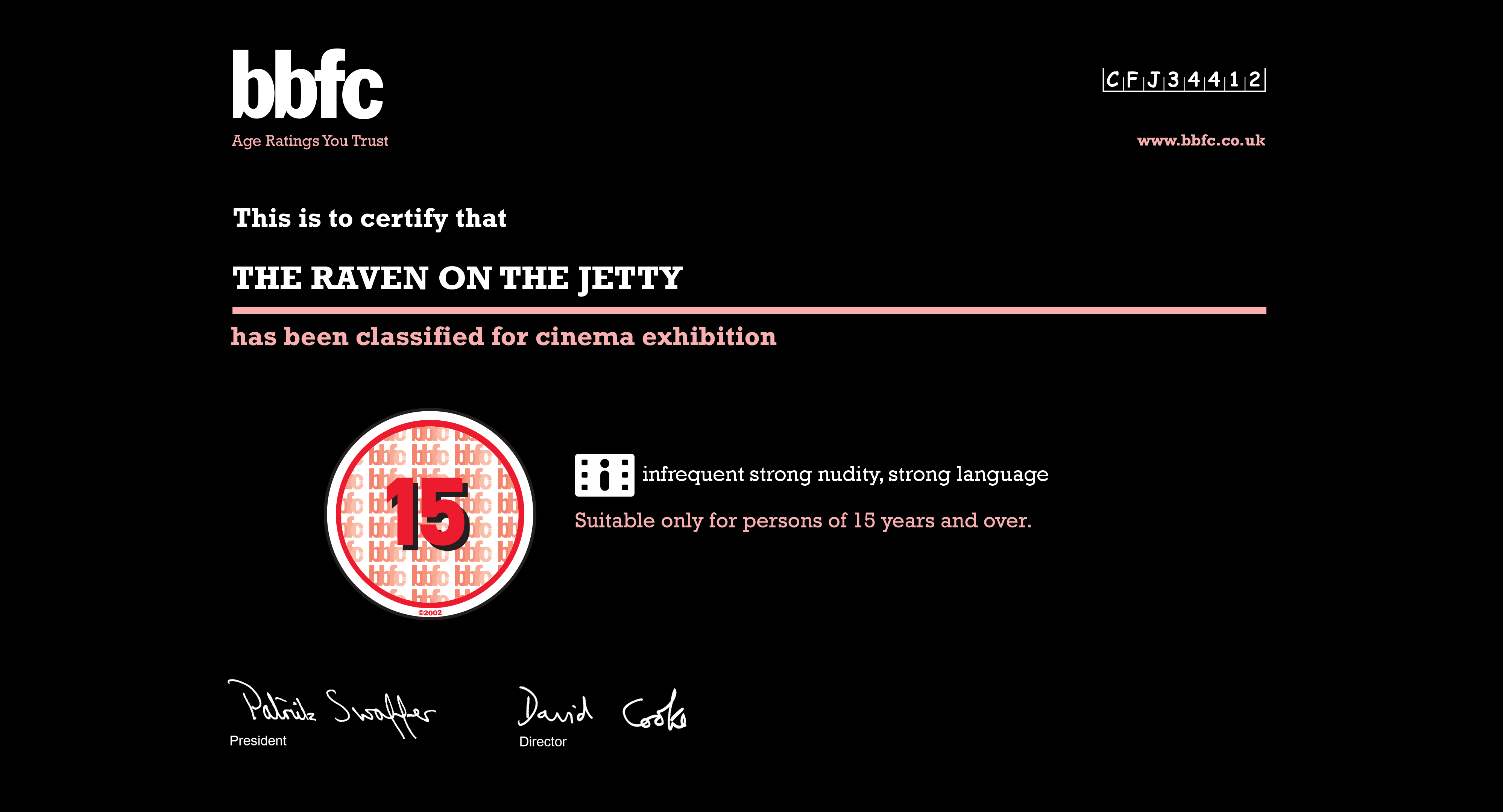 Bbfc Rating Of The Raven On Jetty